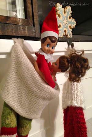 Looks like Elf on a Shelf has some naughty ideas of his own. :) Image: mommysavers.com