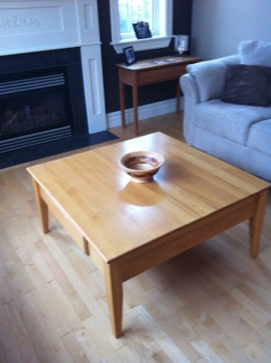 simply lovely hand made coffee table
