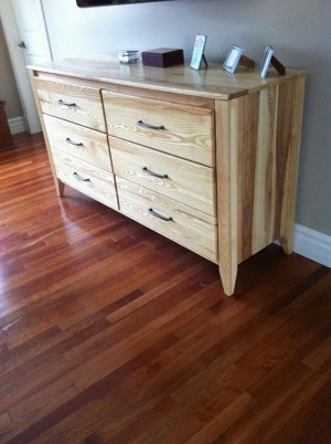 Cathryn's guilty pleasures are probably the gorgeous wood furniture that her husband makes for her. :)