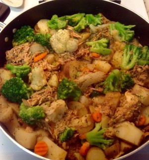Not the Tator Tot Chicken Casserole - but a Chicken Crock Pot Dinner that Jenni loves to make.