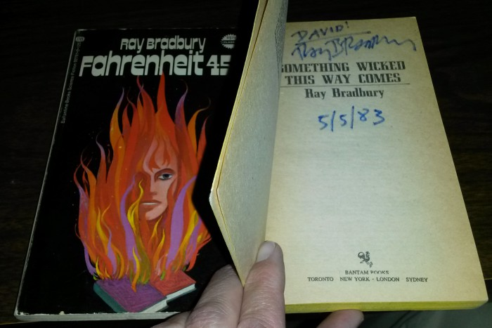 David Lee Summers' signed copy of Fahrenheit 451 by Ray Bradbury