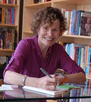 Judy Blume at a book signing