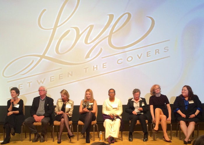 Panel discussion after a screening of LOVE BETWEEN THE COVERS